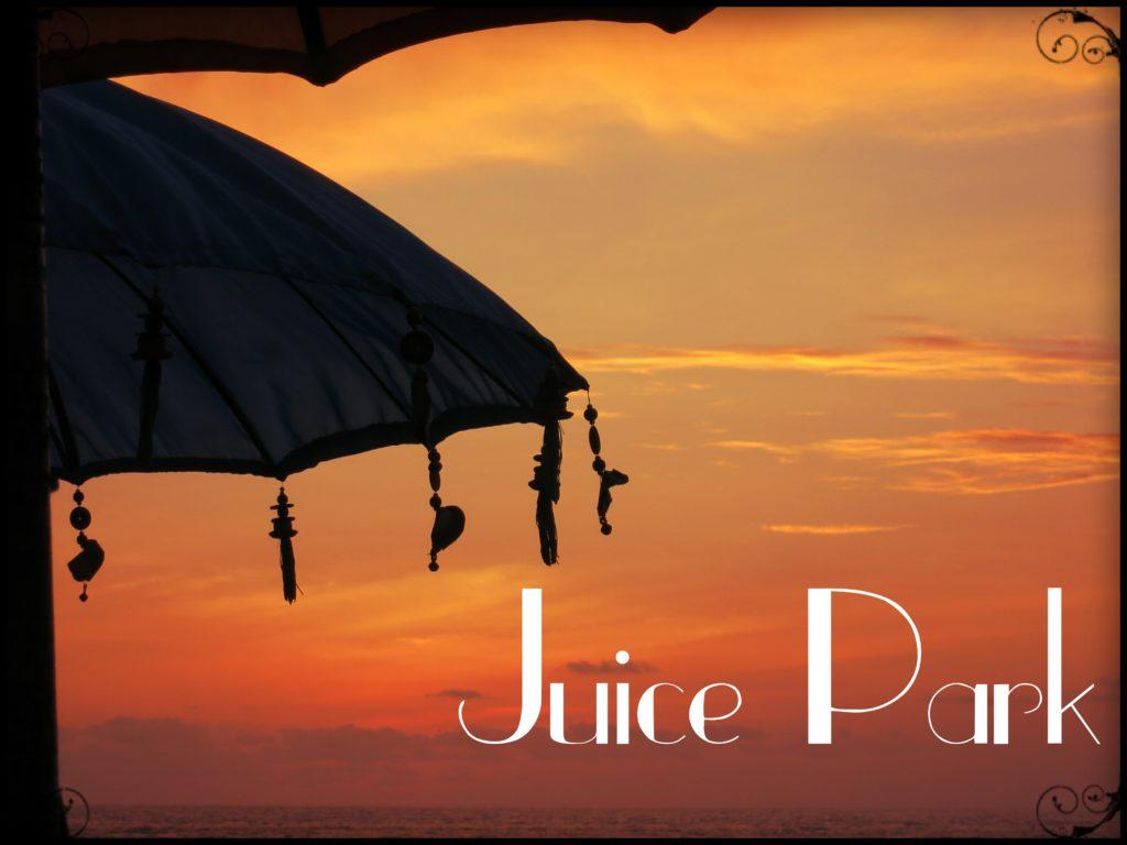 image of sunset at juice park seminyak bali