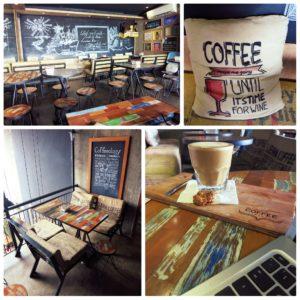 image of the interior of coffee library seminyak bali