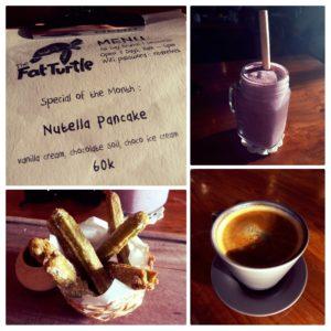food at fat turtle cafe in seminyak bali