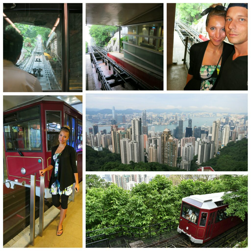 Riding the Peak Tram is fun!