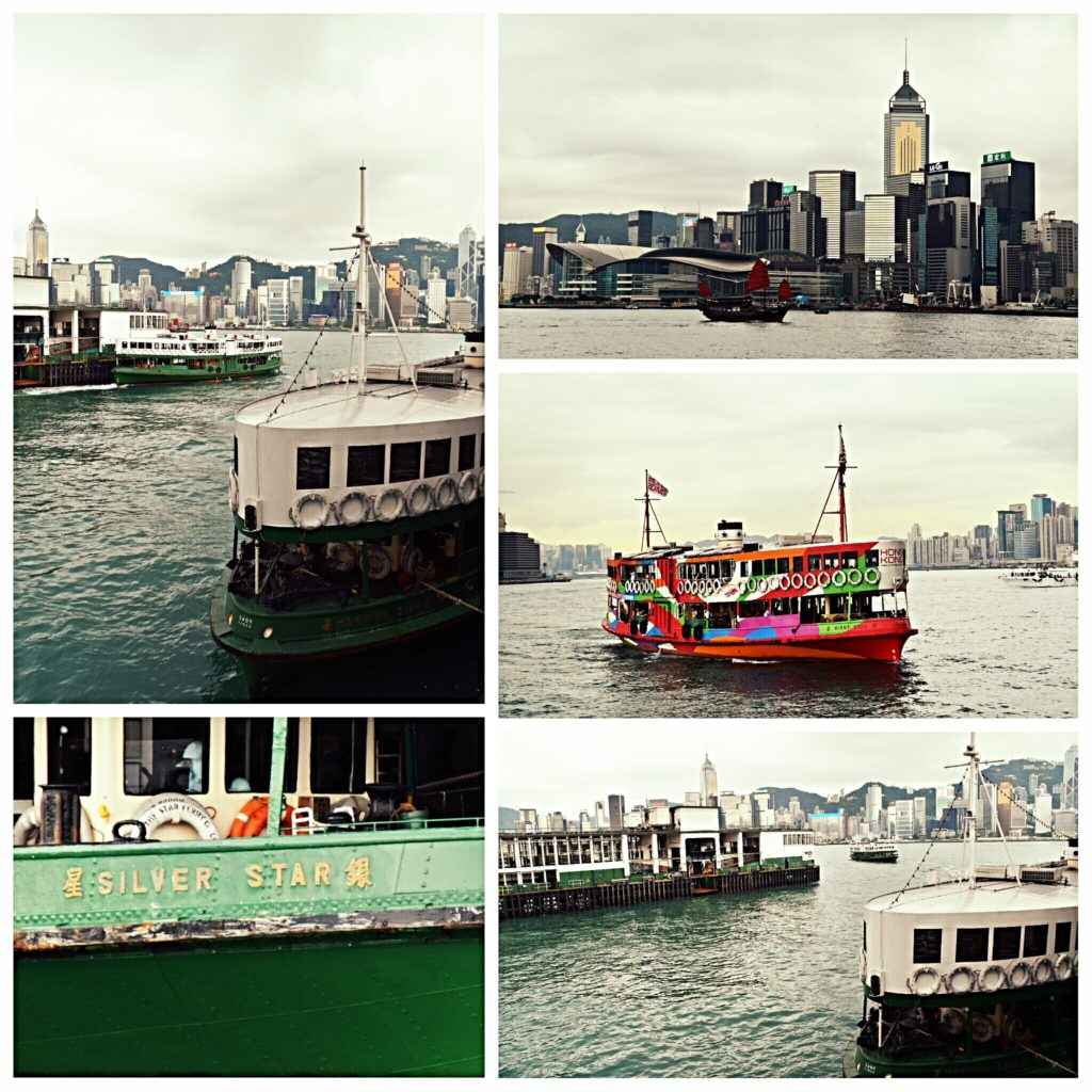 crossing Victoria Habour on the Star ferry