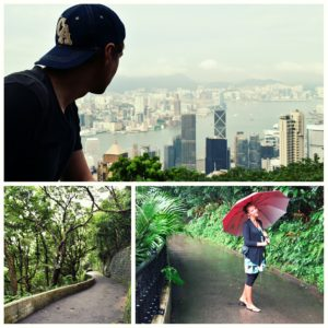 great times at THE PEAK in Hong Kong, despite the rain