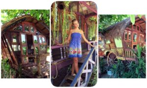 images of gypsy wagons at la laaguna bali