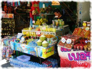 Fruit stalls nearby Doi Suthep Temple Chiang Mai