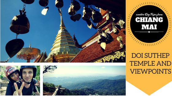 scooter day tour from Chiang Mai to doi suthep templei s