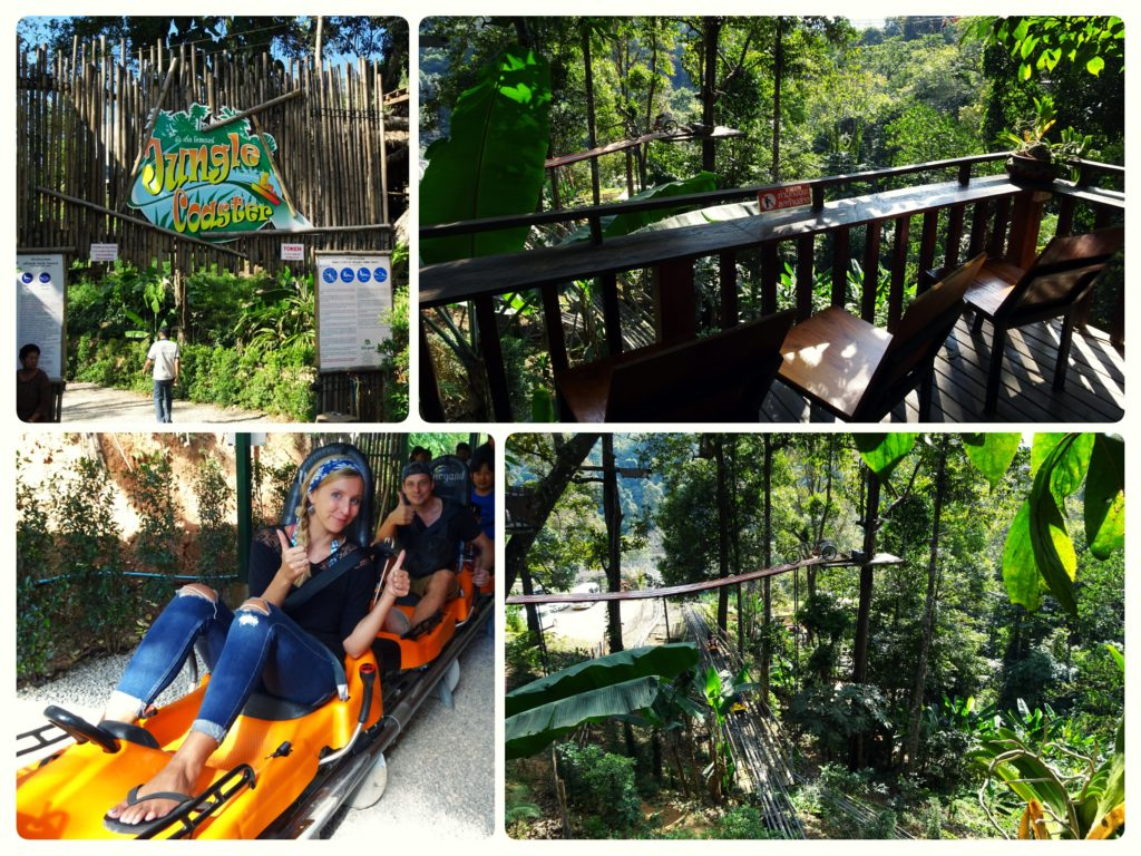 fun at the jungle coaster and Zipline on our way to Mon Cham perfect day trip from Chiang Mai