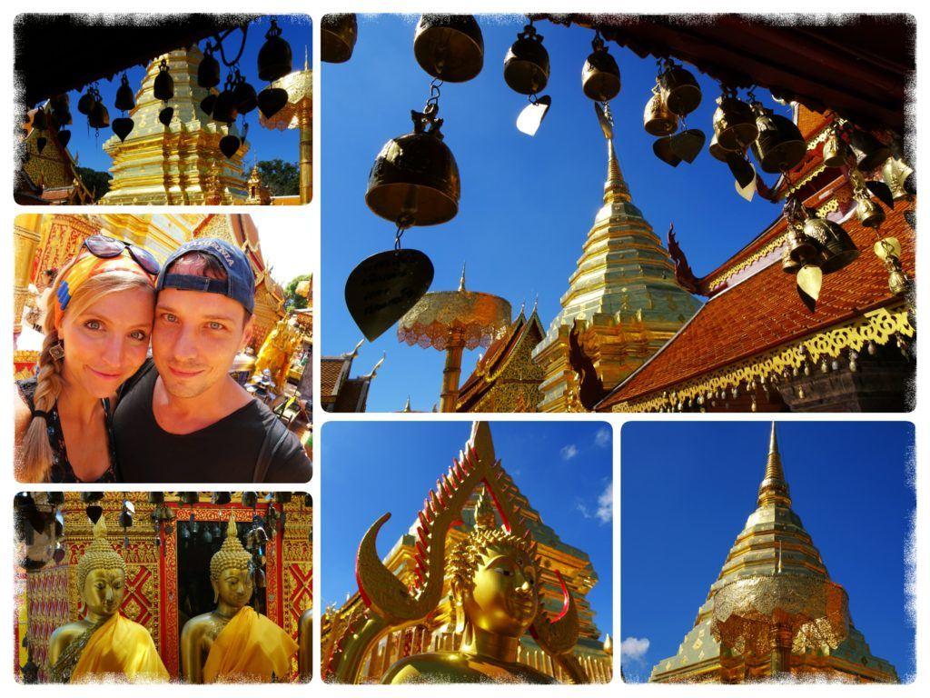 inner courtyard of Doi Suthep Temple in Chiang Mai
