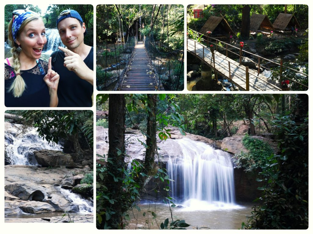 stop at Mae Sa Waterfall on our way to Mon Cham perfect day trip from Chiang Mai