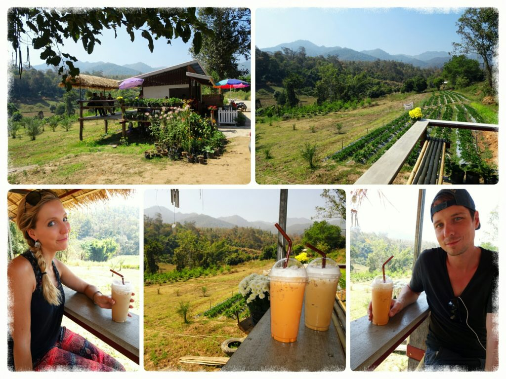 Cafe with a panoramic view shortly past Pam Bok Waterfall in Pai
