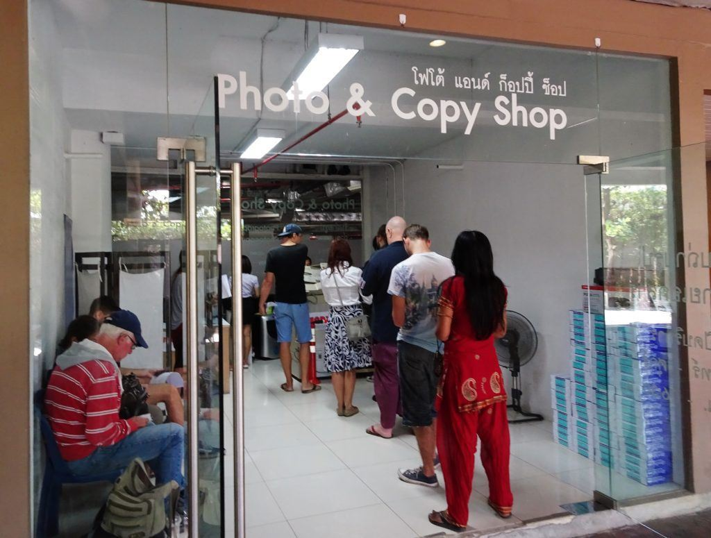 Copy and Photo shop at the Chiang Mai Immigration Office at the Promenada Mall
