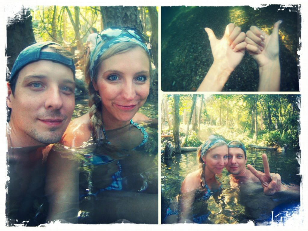 relaxing couple spa session at the Sai Ngam hot springs in Pai