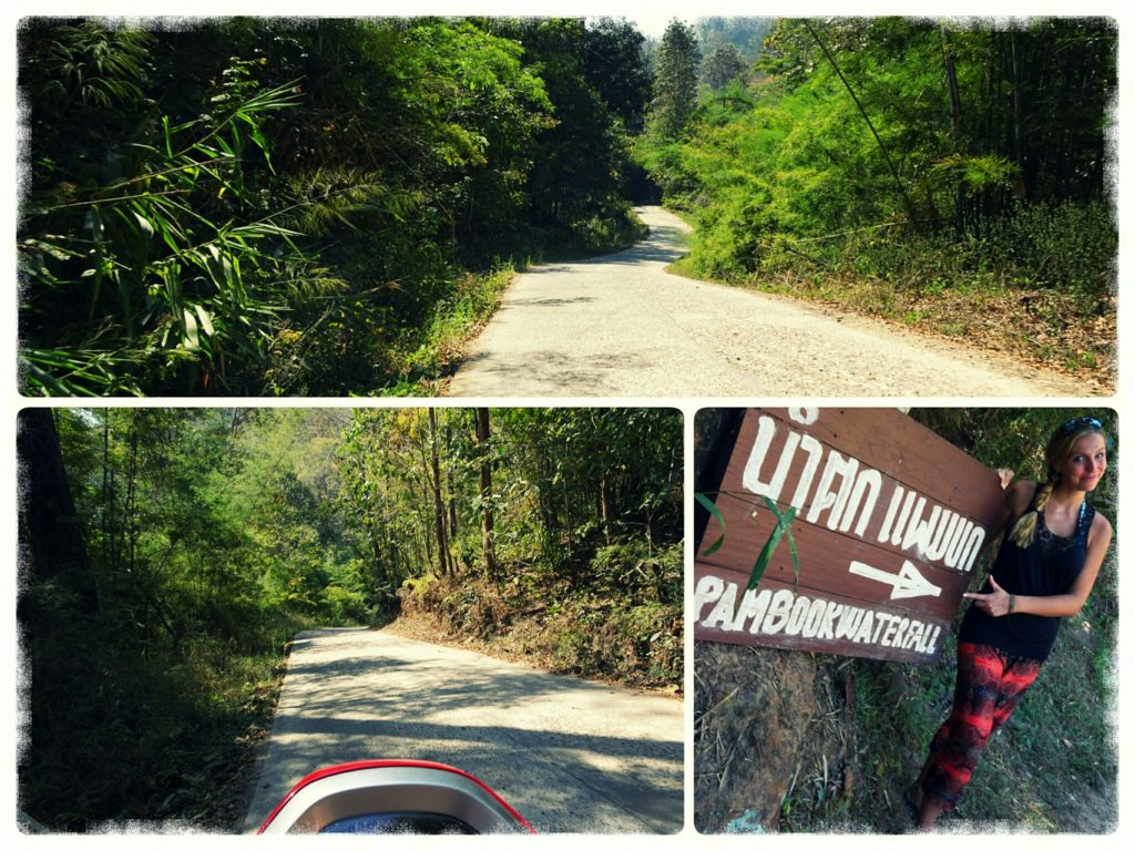road leading to Pam Bok Waterfall in Pai
