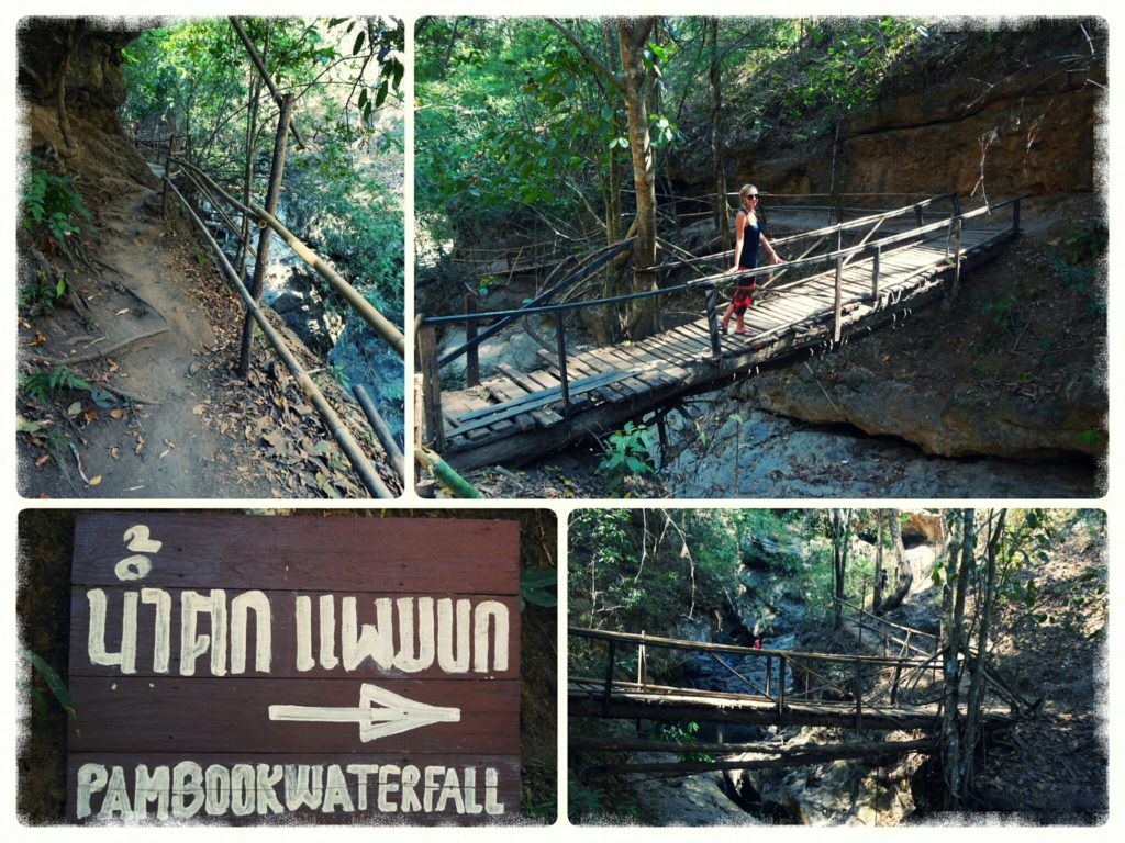 short path leading to Pam Bok Waterfall close to Pai