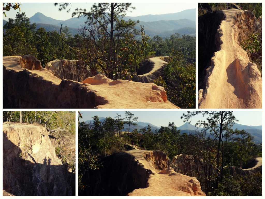 trails and paths at Pai Canyon in Pai Thailand