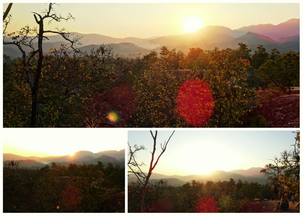 watching the sunset at Pai Canyon_best place to see the sunset in Pai