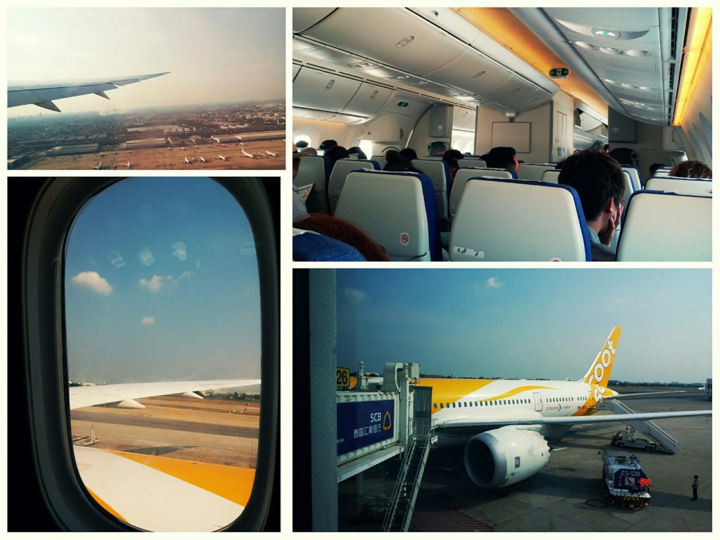 Scoot flight from Bangkok to Melbourne