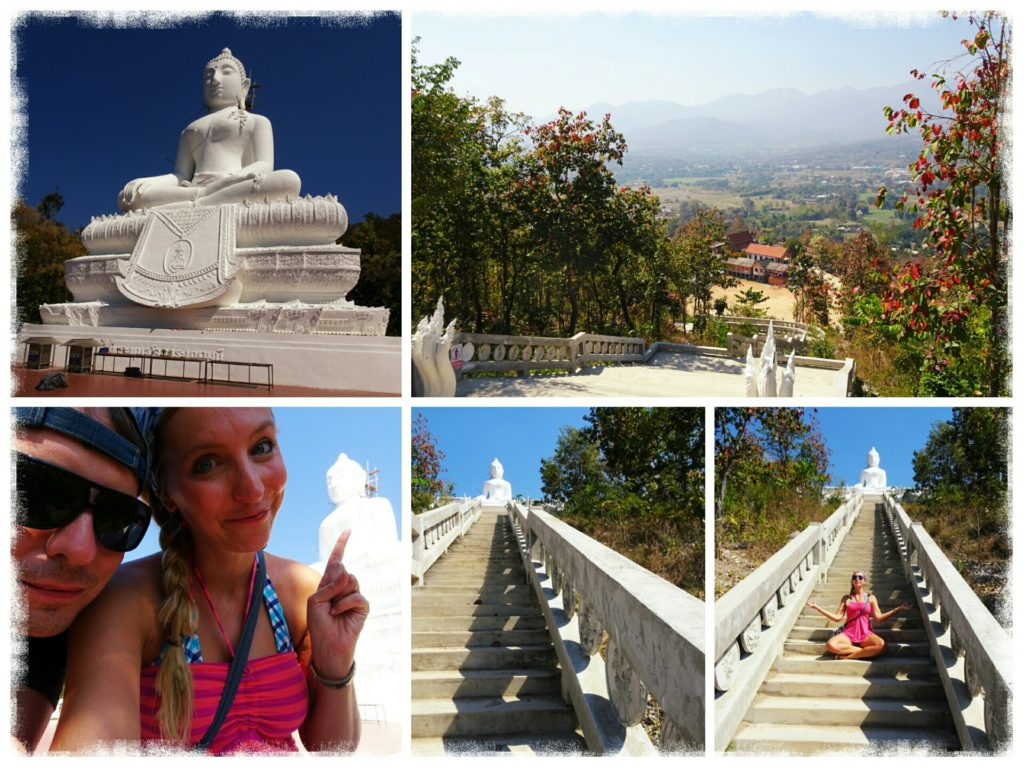 things to do in Pai_climbing the white Buddha in Pai Thailand