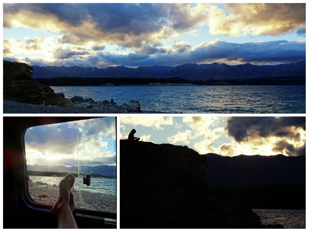 lake pukaki new zealand sunset