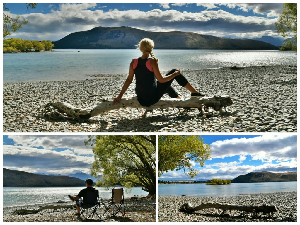 lake tekapo new zealand lunch break