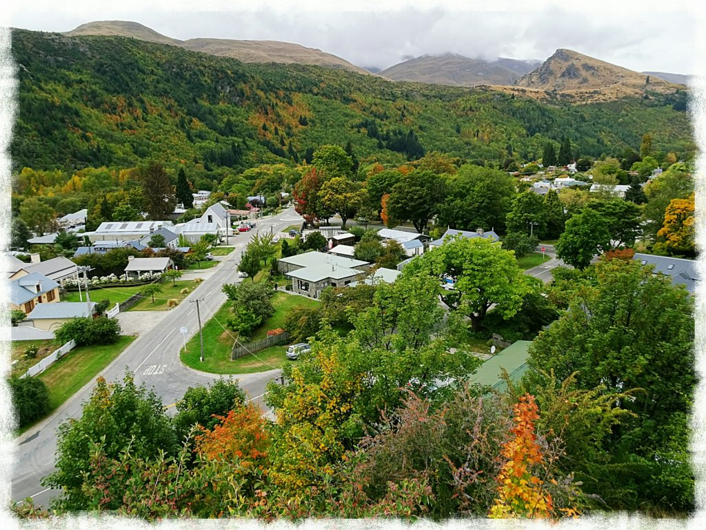 new zealand road trip arrowtown from above