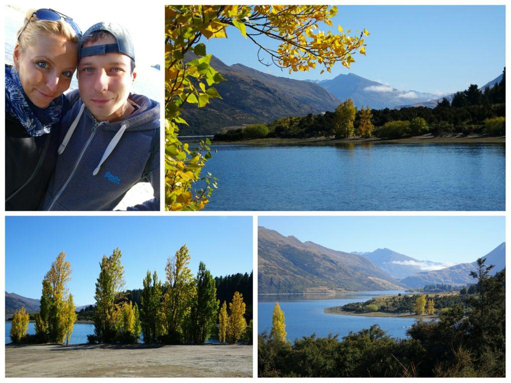 new zealand roadtrip wanka lake outlet scenery