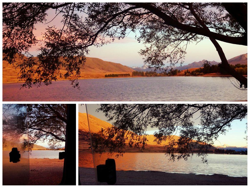 lake camp new zealand sunrise