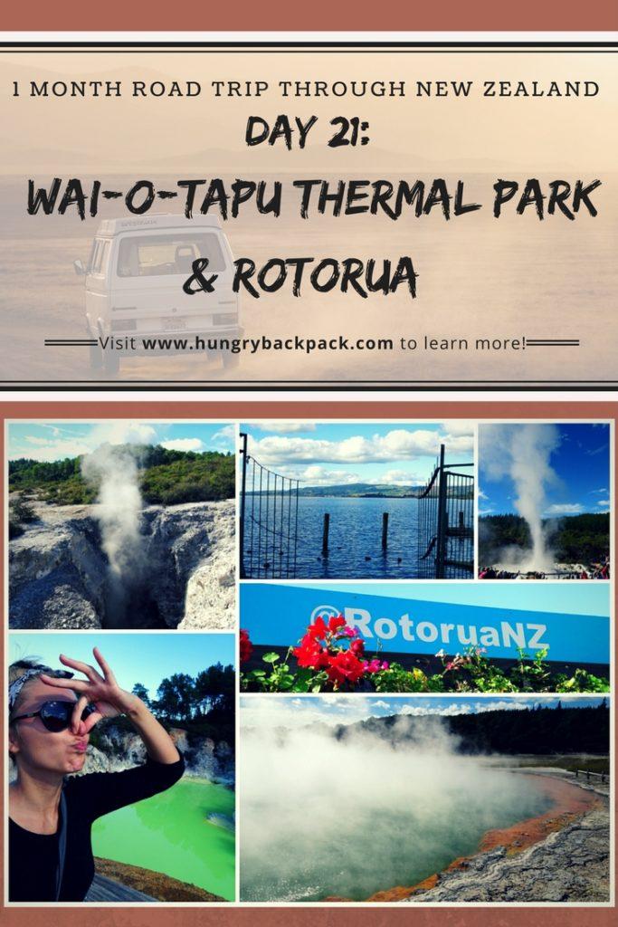 New Zealand Roadtrip Wai-o-tapu thermal park to Rotorua