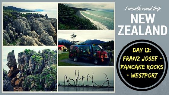 Road Trip New Zealand day 12 Franz Josef - Pancake Rocks - Westport