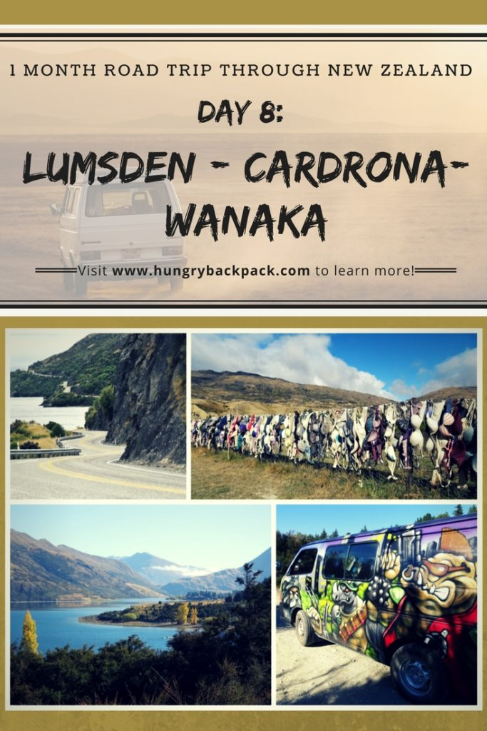 Road trip New Zealand day 8 Lumsden Cadrona Wanaka