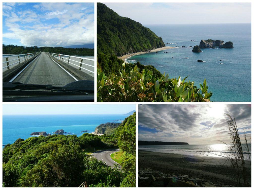 new zealand roadtrip blue pools franz josef glacier beautiful scenery haast highway