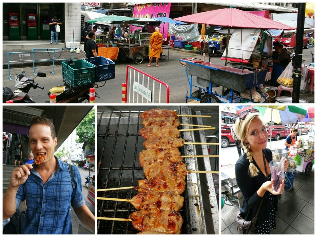 best-things-bangkok-village-of-love-food-tour-pork-stick-breakfast