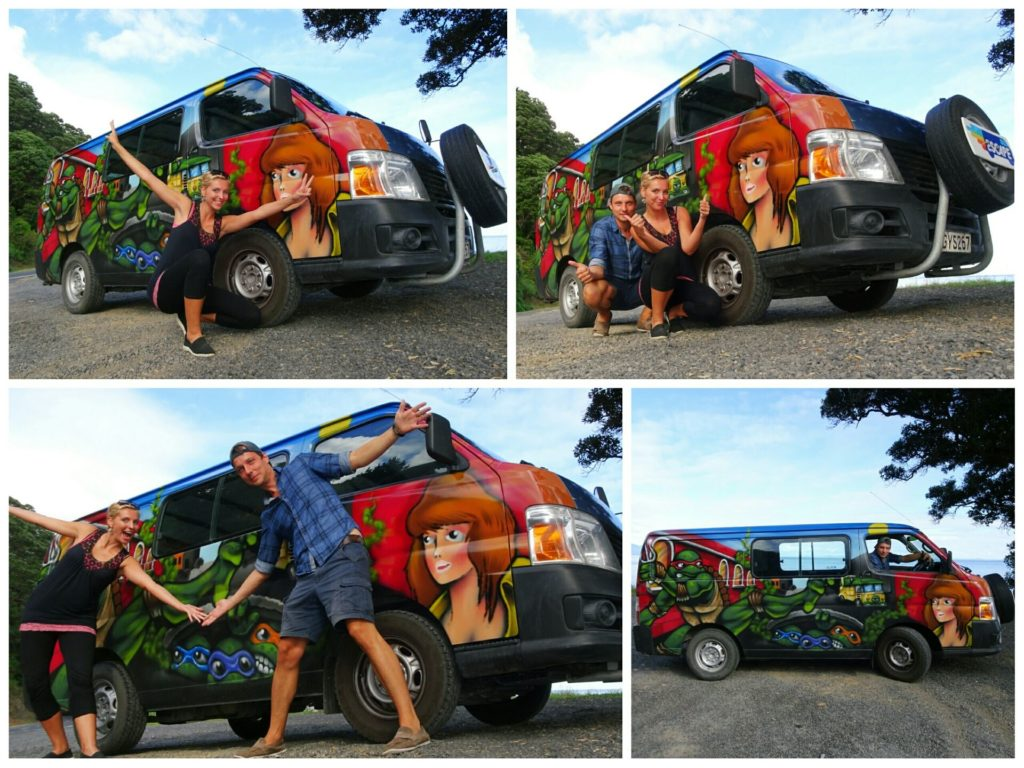 new-zealand-roadtrip-cathedral-cove-coromandel-van-selfie