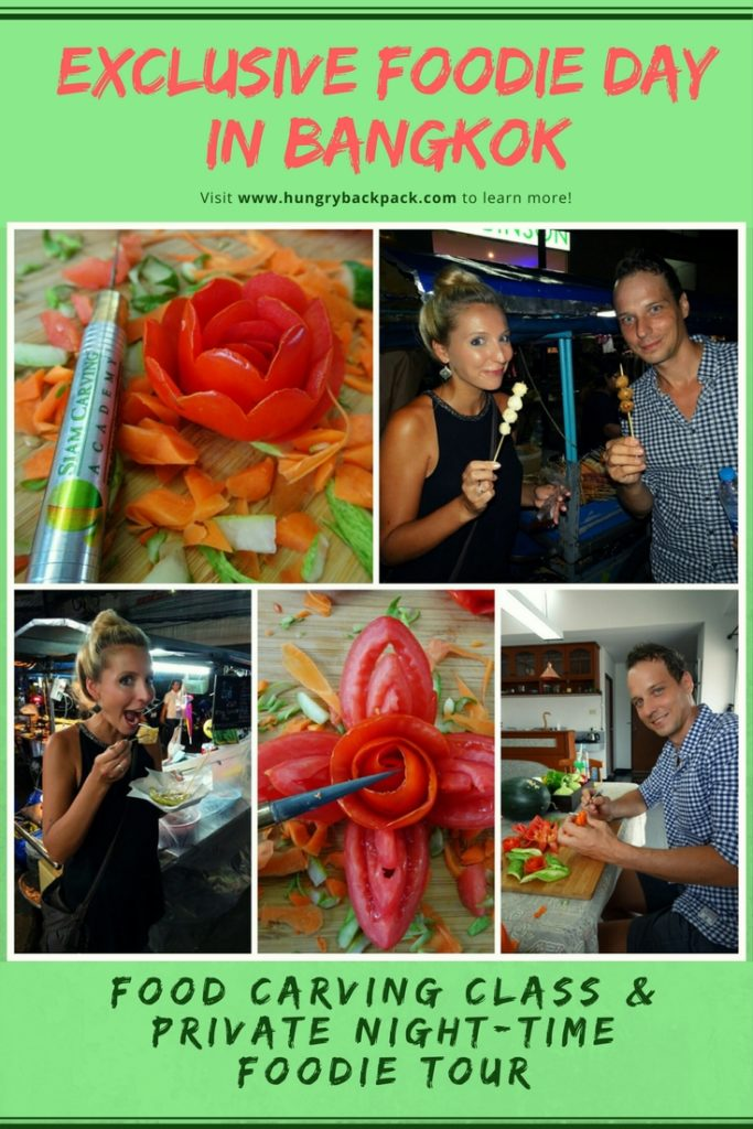 Bangkok exclusive foodie day learning food carving and private night-time foodie tour Bang Rak and Chinatown