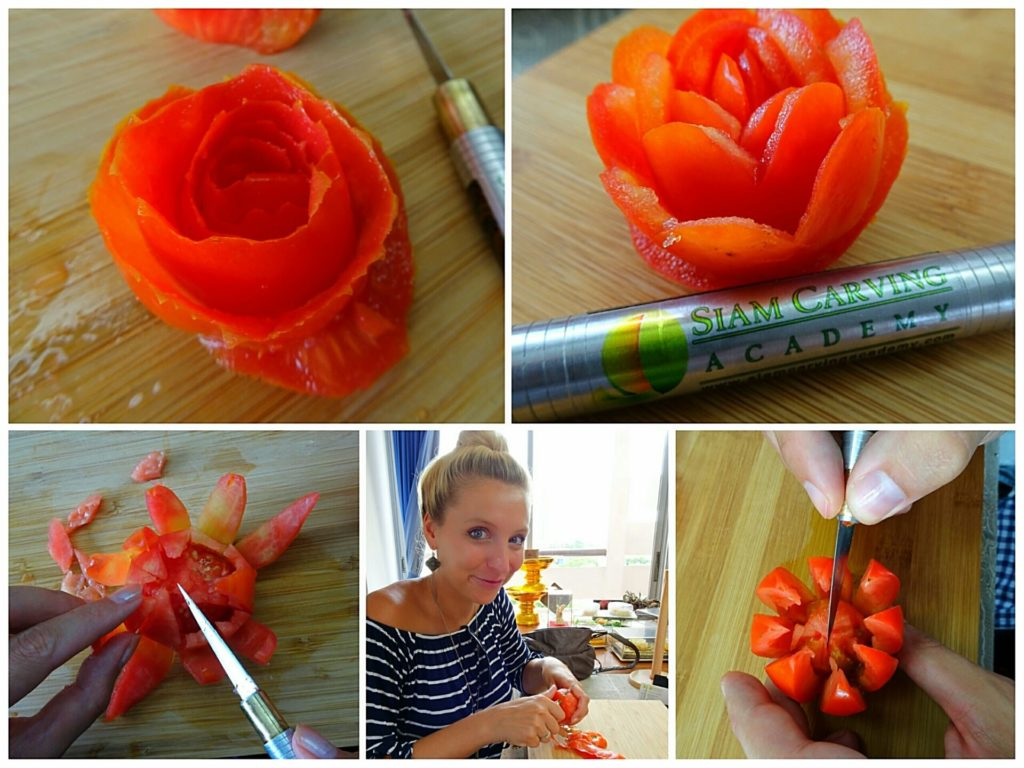 best-things-bangkok-food-carving-academy-tomatoe-roses