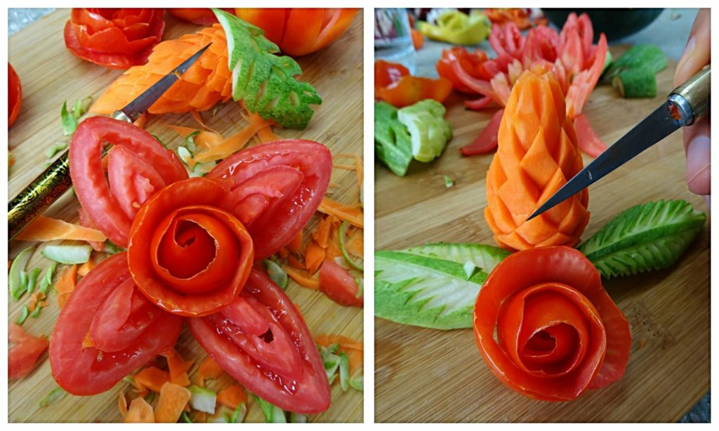 best-things-bangkok-food-carving-academy-vegetable-flowers