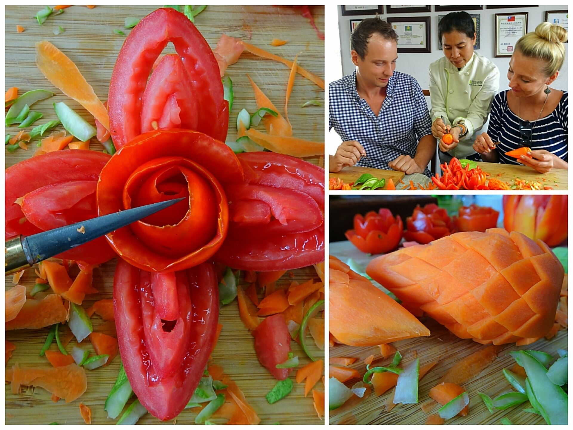 Exclusive foodie day in bangkok food carving