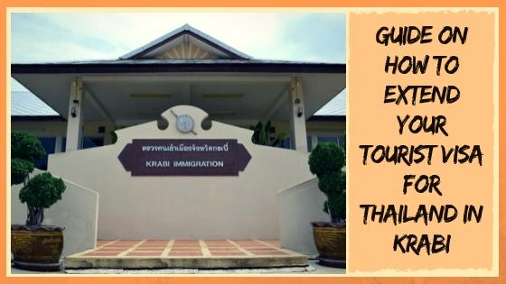 EXTENDING YOUR TOURIST VISA FOR THAILAND IN KRABI