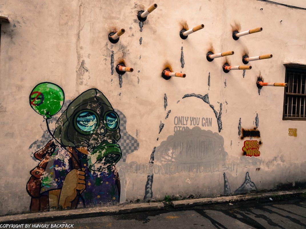 Air Pollution_street art mural Penang
