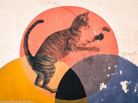I can help catch rats street art mural Penang