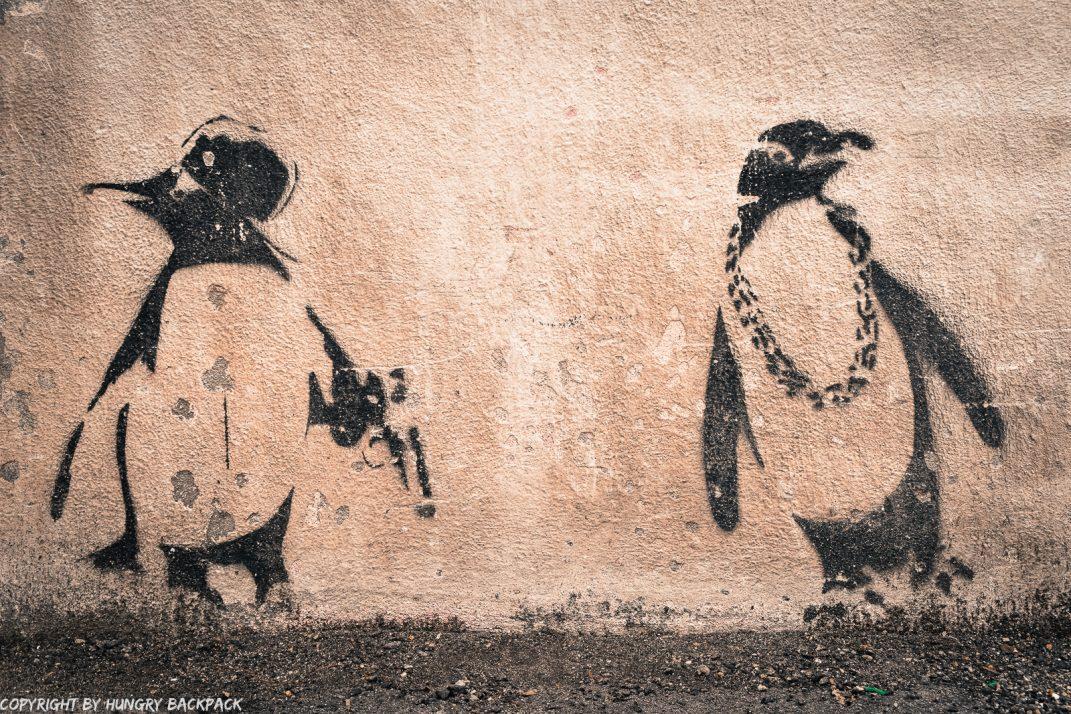 Rapping Penguins street art mural Penang