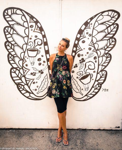 coffee lover wings street art Penang