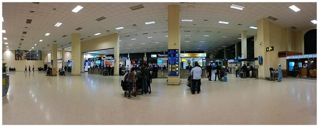 Arrival hall Bandaranaike international airport in Colombo Sri Lanka