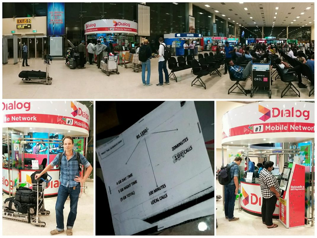 Buy sim card Bandaranaike international airport
