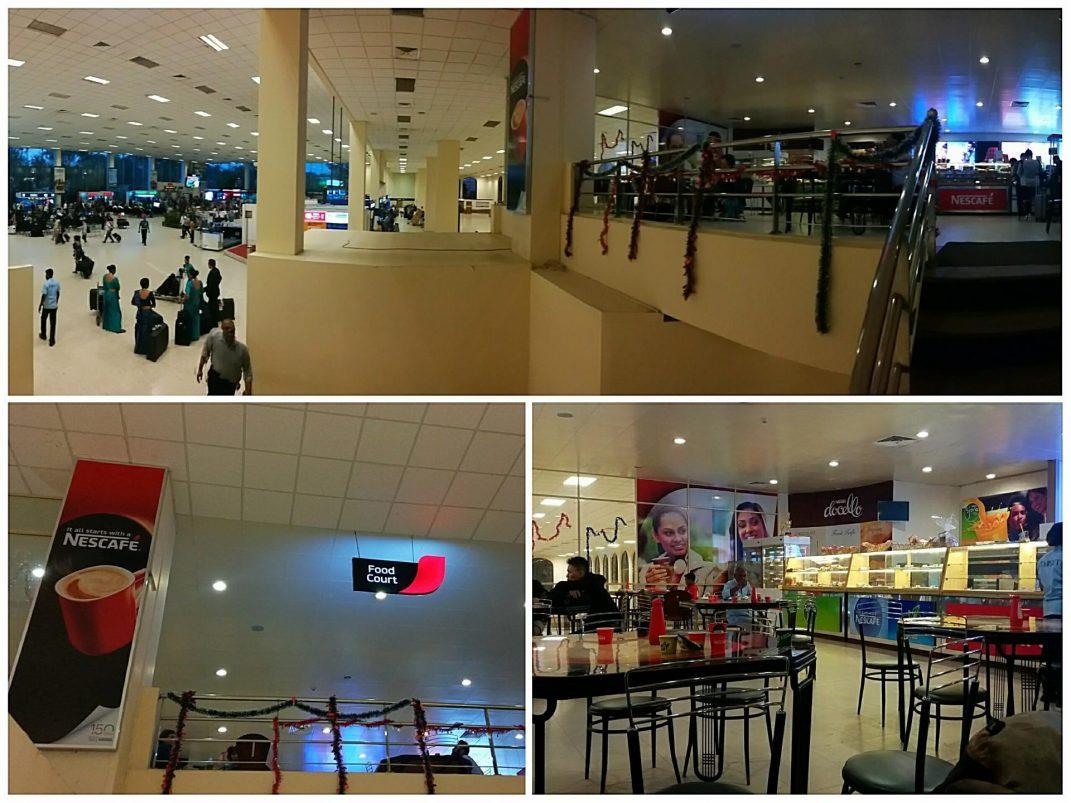 Food court Bandaranaike international airport in Colombo Sri Lanka