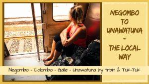 Negombo to Unawatuna by train and tuk tuk_Sri Lanka transport
