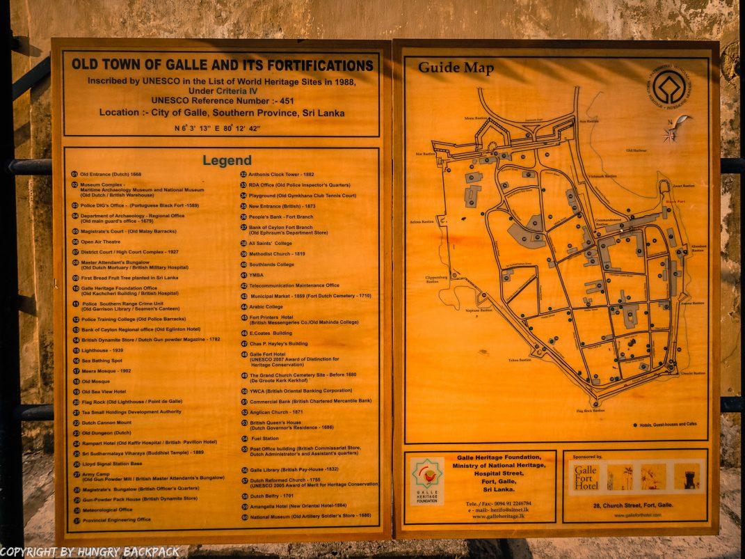 Sri Lanka Trip_Galle dutch fort_map old town