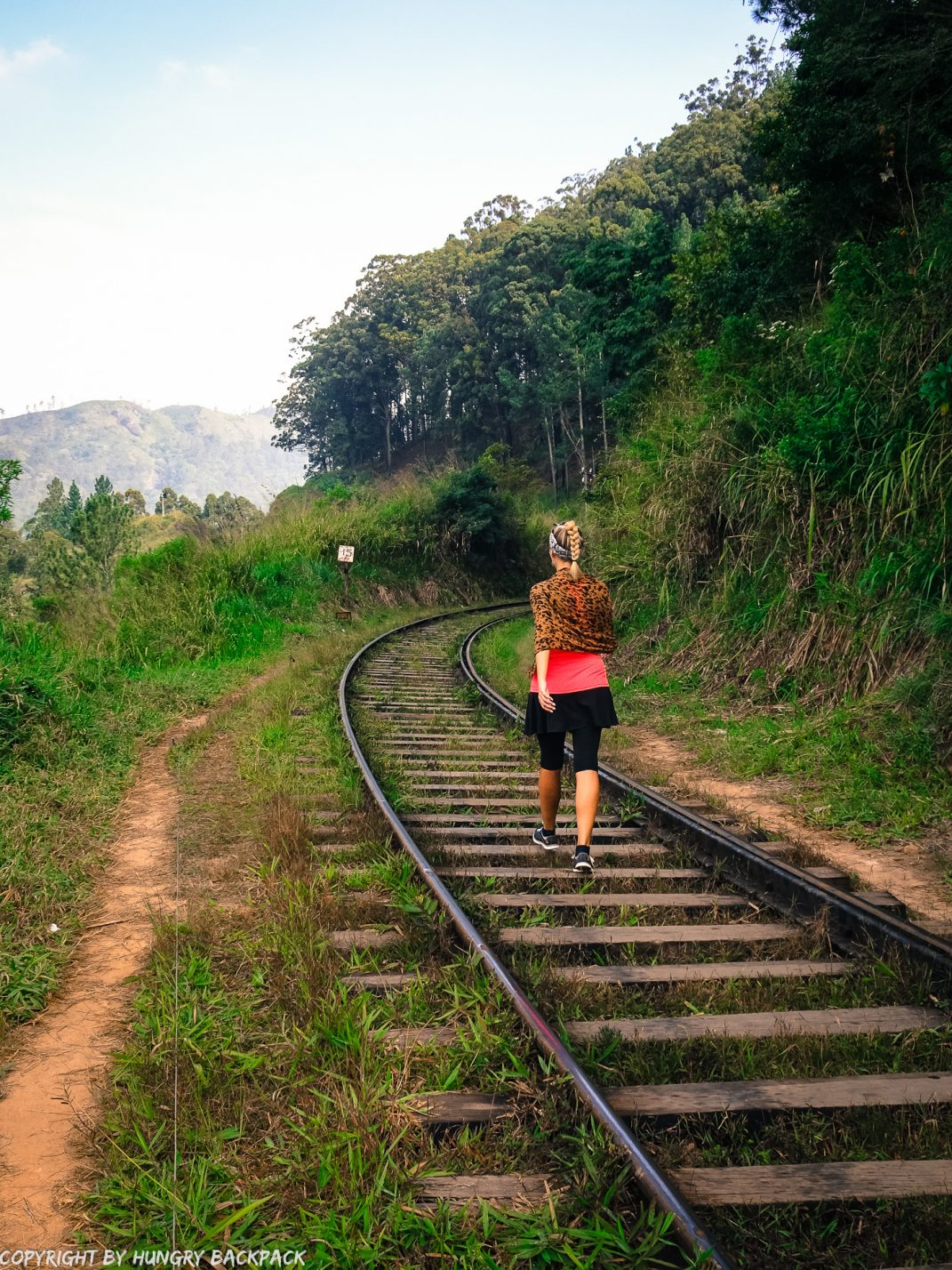 Ella hikes nine arch bridge_berit on railway tracks