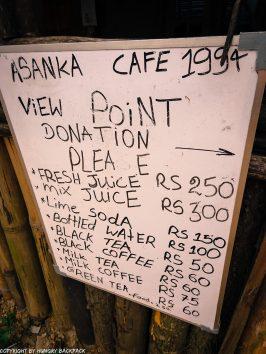 Ella hikes nine arch bridge_menu asanka cafe