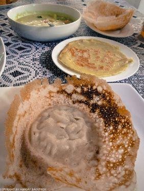 Sri Lanka breakfast_hopper and curry