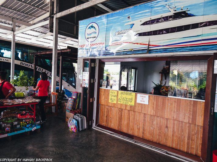 Bangkok to Ko Kut_checkin desk at boonsiri ferry terminal